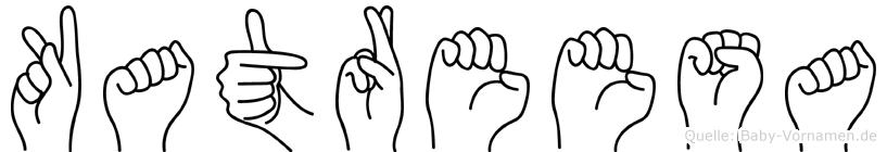 Katreesa im Fingeralphabet der Deutschen Gebärdensprache