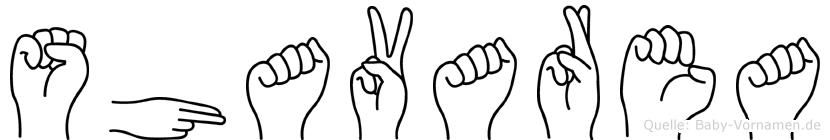 Shavarea im Fingeralphabet der Deutschen Gebärdensprache