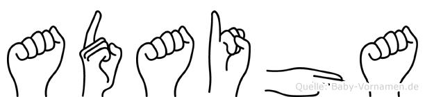 Adaiha im Fingeralphabet der Deutschen Gebärdensprache