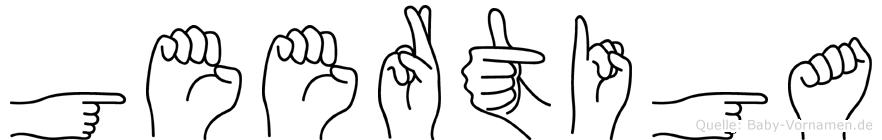 Geertiga im Fingeralphabet der Deutschen Gebärdensprache