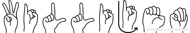 Willijem in Fingersprache für Gehörlose