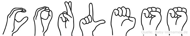 Corless im Fingeralphabet der Deutschen Gebärdensprache