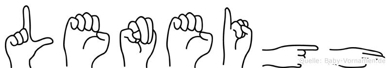 Leneigh in Fingersprache für Gehörlose