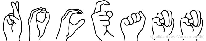 Rocxann im Fingeralphabet der Deutschen Gebärdensprache