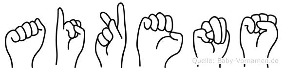 Aikens in Fingersprache für Gehörlose
