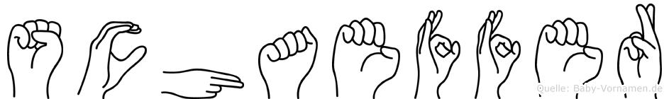 Schaeffer in Fingersprache für Gehörlose