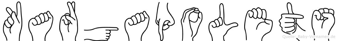 Kargapolets in Fingersprache für Gehörlose