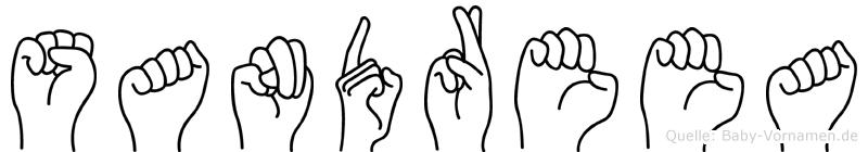 Sandreea im Fingeralphabet der Deutschen Gebärdensprache