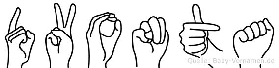 Dvonta in Fingersprache für Gehörlose