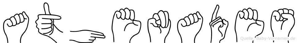 Athenades in Fingersprache für Gehörlose
