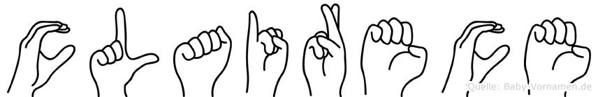 Clairece im Fingeralphabet der Deutschen Gebärdensprache