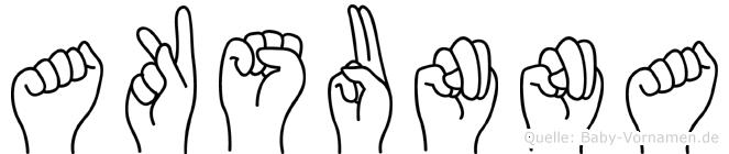 Aksunna in Fingersprache für Gehörlose