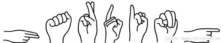 Harding im Fingeralphabet der Deutschen Gebärdensprache