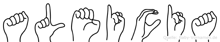 Aleicia im Fingeralphabet der Deutschen Gebärdensprache