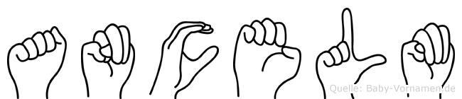 Ancelm in Fingersprache für Gehörlose