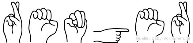 Renger im Fingeralphabet der Deutschen Gebärdensprache