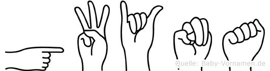 Gwyna im Fingeralphabet der Deutschen Gebärdensprache