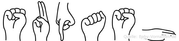 Supash in Fingersprache für Gehörlose