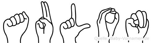 Aulon im Fingeralphabet der Deutschen Gebärdensprache