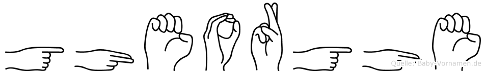 Gheorghe in Fingersprache für Gehörlose