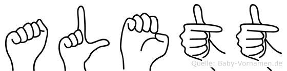 Alett in Fingersprache für Gehörlose