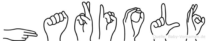 Hariolf im Fingeralphabet der Deutschen Gebärdensprache
