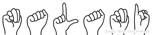 Nalani im Fingeralphabet der Deutschen Gebärdensprache