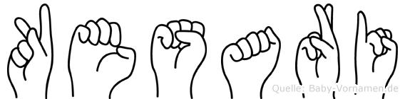 Kesari im Fingeralphabet der Deutschen Gebärdensprache