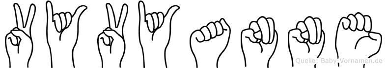 Vyvyanne im Fingeralphabet der Deutschen Gebärdensprache