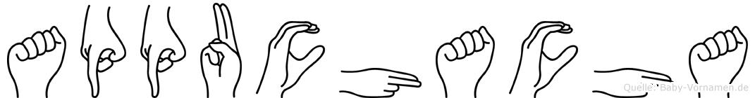 Appuchacha im Fingeralphabet der Deutschen Gebärdensprache