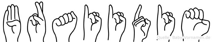 Braiidie im Fingeralphabet der Deutschen Gebärdensprache