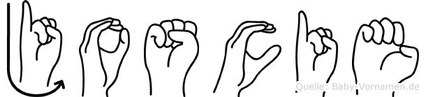 Joscie im Fingeralphabet der Deutschen Gebärdensprache