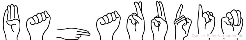 Baharudin im Fingeralphabet der Deutschen Gebärdensprache