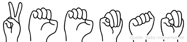 Veeman in Fingersprache für Gehörlose