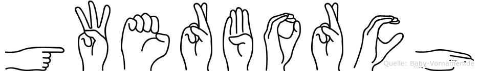 Gwerborch im Fingeralphabet der Deutschen Gebärdensprache