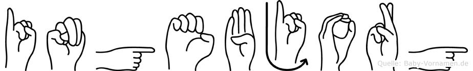 Ingebjorg in Fingersprache für Gehörlose