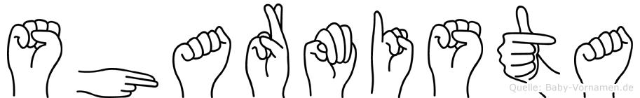 Sharmista in Fingersprache für Gehörlose