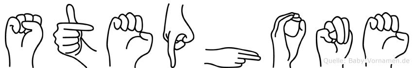Stephone im Fingeralphabet der Deutschen Gebärdensprache