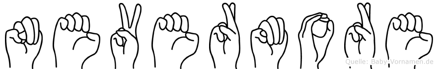 Nevermore in Fingersprache für Gehörlose