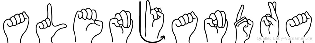 Alenjandra in Fingersprache für Gehörlose