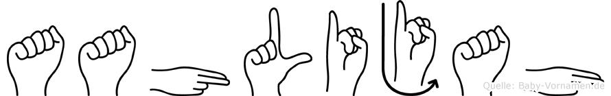 Aahlijah in Fingersprache für Gehörlose