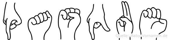 Pasque in Fingersprache für Gehörlose