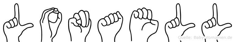 Lonaell im Fingeralphabet der Deutschen Gebärdensprache