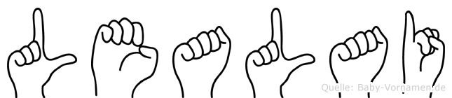 Lealai im Fingeralphabet der Deutschen Gebärdensprache