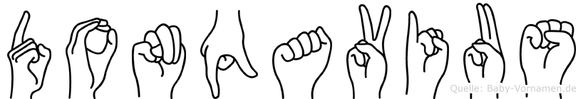 Donqavius im Fingeralphabet der Deutschen Gebärdensprache