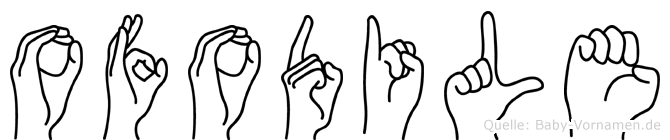 Ofodile im Fingeralphabet der Deutschen Gebärdensprache