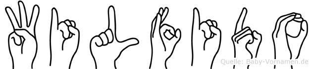 Wilfido in Fingersprache für Gehörlose