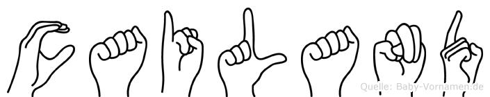 Cailand in Fingersprache für Gehörlose