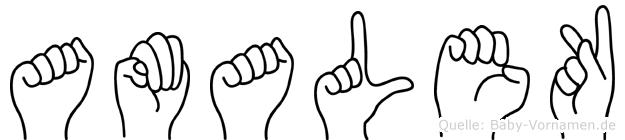 Amalek in Fingersprache für Gehörlose