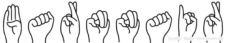Barnnair im Fingeralphabet der Deutschen Gebärdensprache